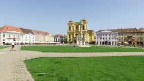 Timisoara union square stock video