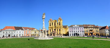 Timisoara union square panorama Royalty Free Stock Images