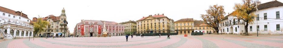Timisoara Victoria Square Panorama Stock Image