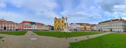 Timisoara zjednoczenia kwadrata panorama Zdjęcia Stock
