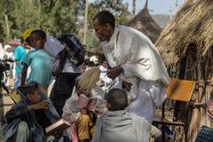 Timkat庆祝在埃塞俄比亚 图库摄影