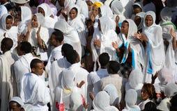 Timkat beröm i Etiopien Arkivfoton