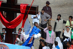Timkat celebration in Ethiopia Royalty Free Stock Photo