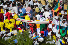 Timkat Feier in Äthiopien Lizenzfreie Stockfotografie