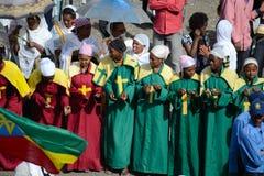 Timkat Feier in Äthiopien Lizenzfreies Stockfoto