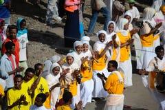 Timkat Feier in Äthiopien Stockfotografie