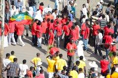 Timkat Feier in Äthiopien Stockfoto