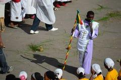 Timkat Feier in Äthiopien Stockbilder
