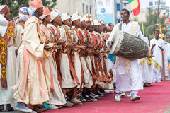 Timket,突然显现的埃赛俄比亚的正统庆祝 库存图片