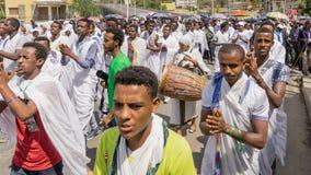 2016 Timket świętowania w Etiopia Fotografia Royalty Free