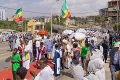 2016 Timket świętowania w Etiopia Obrazy Royalty Free