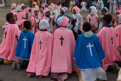 Timket, эфиопское правоверное торжество явления божества Стоковое Фото