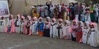 Timket, a celebração ortodoxo etíope do esmagamento Fotografia de Stock Royalty Free