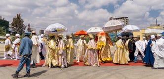 Timket-Feiern 2016 in Äthiopien stockfotografie
