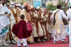 Timket, la célébration orthodoxe éthiopienne de l'épiphanie Photographie stock
