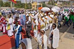 2016 Timket-Vieringen in Ethiopië Stock Foto's