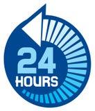 24 timmar stock illustrationer