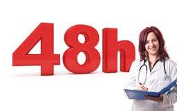 48 timmar doktor Arkivfoton