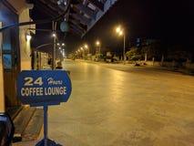 24 timmar kaffevardagsrum Royaltyfria Bilder
