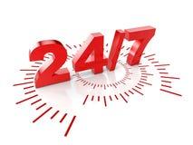 24 timmar service Royaltyfri Foto