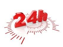 24 timmar service Royaltyfria Foton