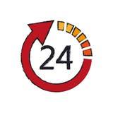 24 timmar service Royaltyfri Bild