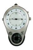 Timmar som kombineras med en kompass Arkivfoton