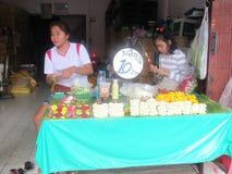 24 timmeblommamarknad i Bangkok Arkivfoton