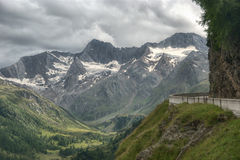 Timmelsjoch. High mountain pass between Austria and Italy in Otztal Alps Royalty Free Stock Photography