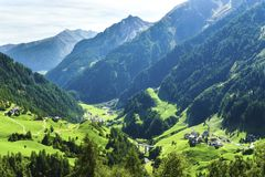 Timmelsjoch. Italian Passo del Rombo is an Alpine road saddle located on the border of Austria and Italy stock photos