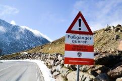 Timmelsjoch passerande i södra Tyrol (Österrike)  Royaltyfria Bilder
