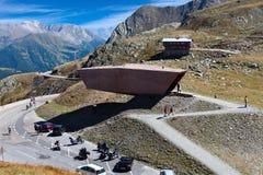 Timmelsjoch Passo Rombo ett passerande för högt berg mellan Österrike och Italien Arkivbild