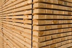Timmerhout en hout Royalty-vrije Stock Foto