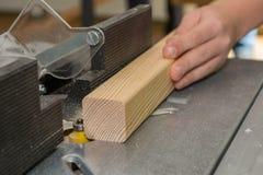 Timmerman gemalen houten paneel Royalty-vrije Stock Foto's