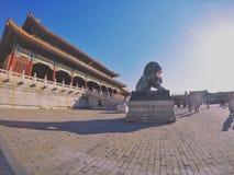Timmerstrukturen i Forbidden City royaltyfri bild