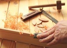 Timmerwerk en Schrijnwerkerijhulpmiddelen royalty-vrije stock afbeelding