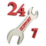 24 timmeservice Royaltyfri Bild