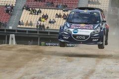 Timmy HANSEN Peugeot 208 Barcelona FIA Rallycross Światowy mistrzostwo Montmelo, Hiszpania Septembe Fotografia Stock
