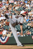 Timmy Lincecum in full swing Stock Photography