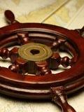Timón en las correspondencias náuticas Imagen de archivo libre de regalías