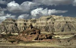 小山以色列公园螺旋timna视图 免版税库存照片