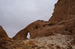 Timna national park near Eilat. In South Israel, arch Royalty Free Stock Photo