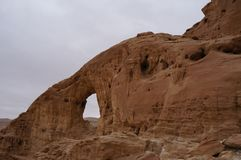 Timna national park near Eilat. In South Israel, the arch Royalty Free Stock Photos