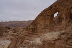 Timna national park near Eilat. In South Israel, the arch Royalty Free Stock Images