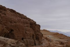 Timna national park near Eilat. In South Israel Royalty Free Stock Images
