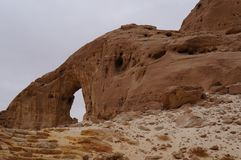 Timna national park near Eilat. In South Israel, arch Stock Photography