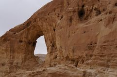 Timna national park near Eilat. In South Israel, the arch Royalty Free Stock Photo