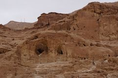 Timna national park near Eilat. In South Israel, the cave Stock Photos