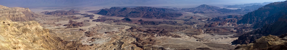 Timna Panorama. Timna valley in the negev - Israel Royalty Free Stock Images