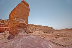 At Timna Park in Israel Royalty Free Stock Photos